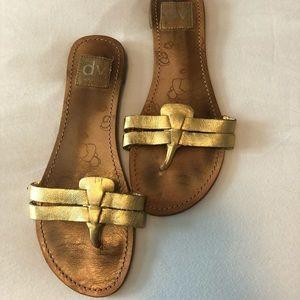 Dolce Vita metallic gold sandals